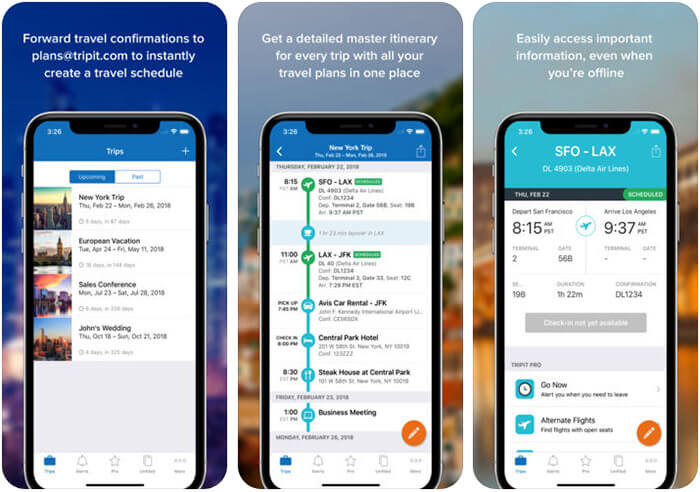 TripIt Siri Shortcuts Supported iPhone and iPad App Screenshot
