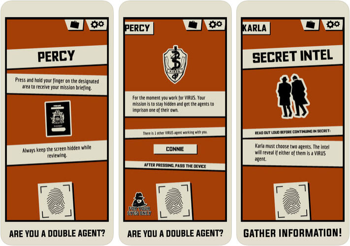 Triple Agent Family Game for iPhone and iPad