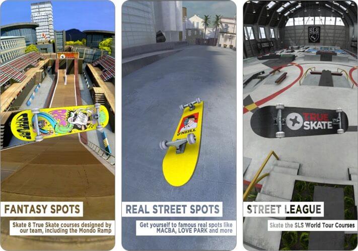 True Skate iPhone Skateboard Game Screenshot