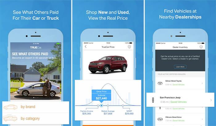 TrueCar iPhone and iPad Car Buying App Screenshot