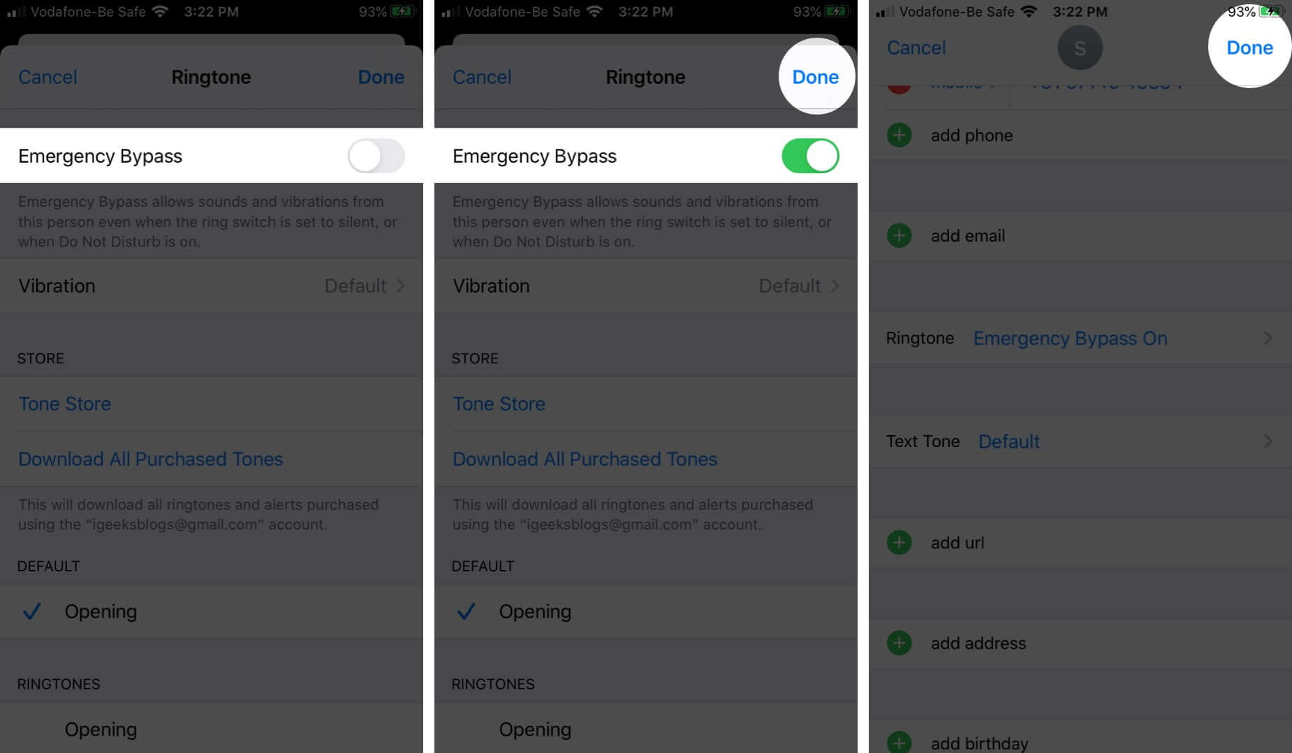 Turn ON Emergency Bypass for Phone Calls on iPhone or iPad