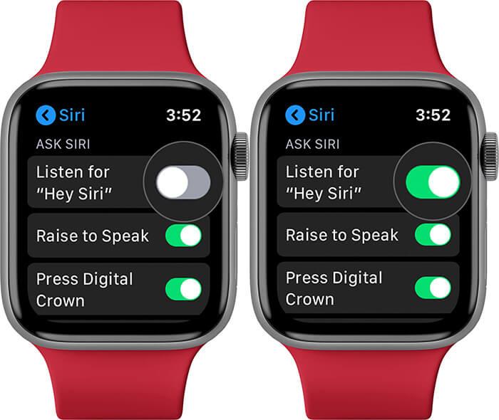 Turn ON Hey Siri on Apple Watch