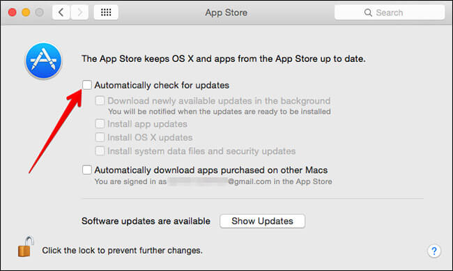 Turn Off Automatic Apple Software Update on Mac