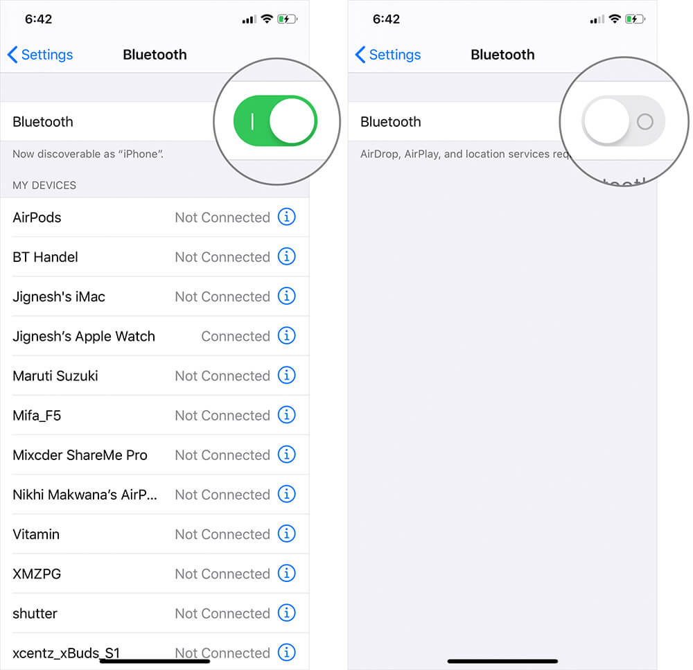 Turn Off Bluetooth on iPhone or iPad