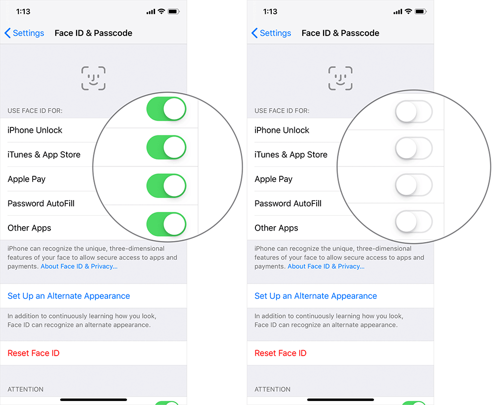Turn Off Face ID on iPhone X, Xs, Xs Max, iPhone XR, or iPad Pro