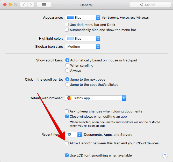 Turn Off Handoff on Mac
