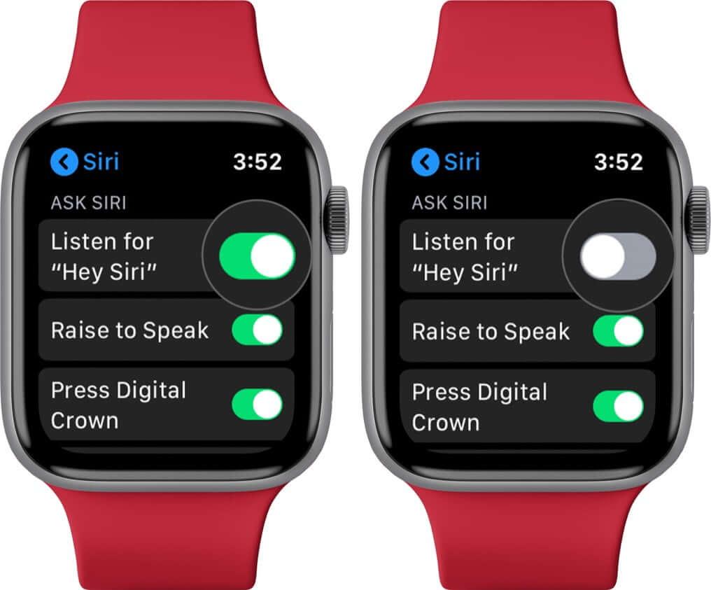 Turn Off Hey Siri on Apple Watch