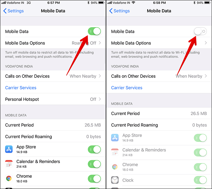 Turn Off Mobile Data on iPhone or iPad