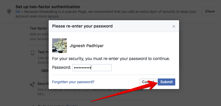 Turn Off Two-factor Authentication for Facebook on Mac or Windows PC