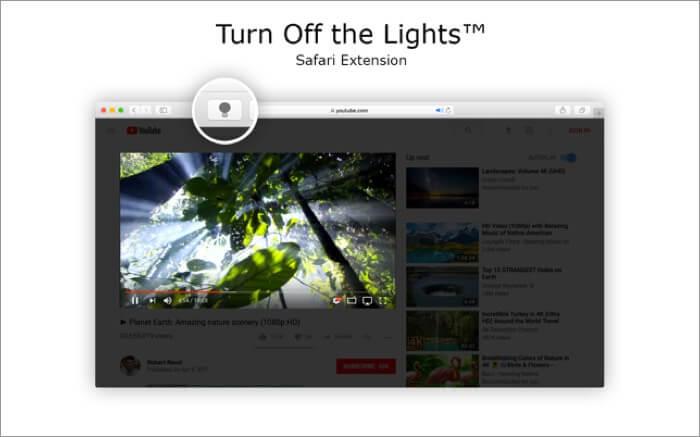 Turn Off the Lights for Safari Mac App Screenshot