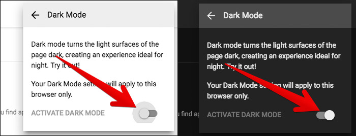 Turn On Dark Mode in YouTube
