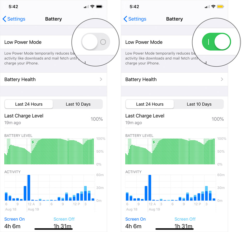 Turn On Low-Power Mode on iPhone