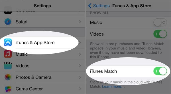 Turn On iTunes Match on iPhone and iPad