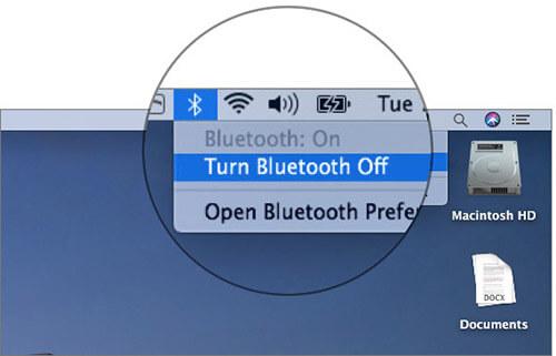 Turn off Bluetooth on Mac