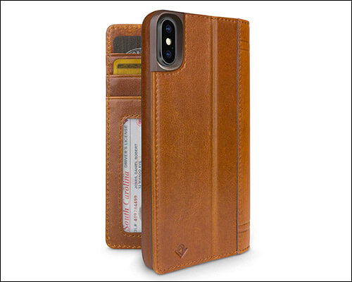 Twelve South iPhone Xs Leather Wallet Case