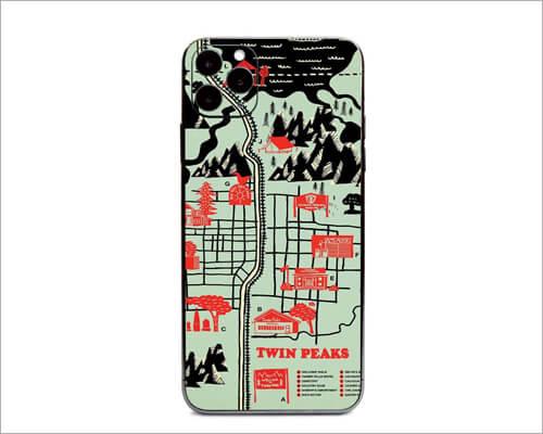 Twin Peaks Map iPhone 11 Pro Skin Wrap