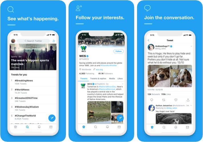 Twitter iOS App Screenshot