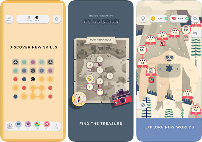 Two Dots One-Handed iPhone and iPad Game Screenshot