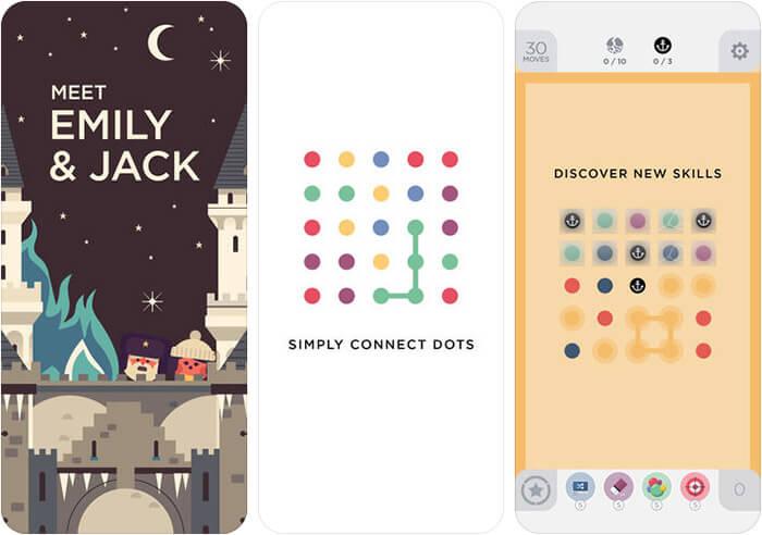 Two Dots iPhone and iPad Board Game Screenshot