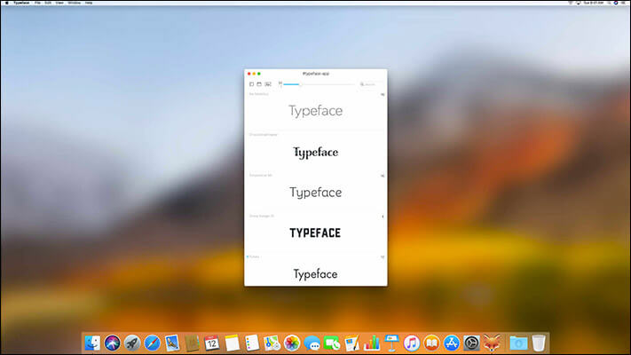 Typeface Font Management Software for Mac