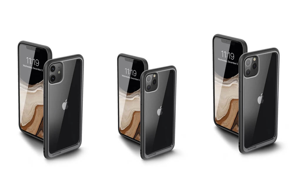UB Style Series Protective Clear Case for iPhone 11, 11 Pro, and 11 Pro Max