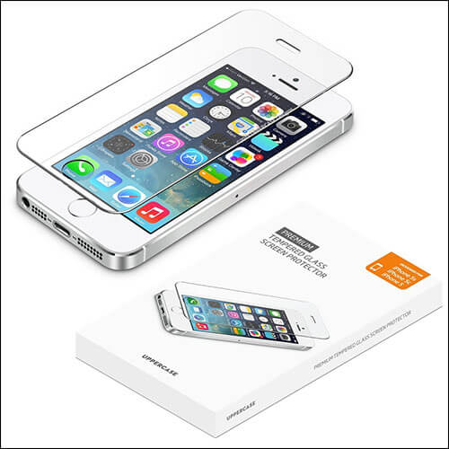 UPPERCASE iPhone SE Tempered Glass Screen Protector