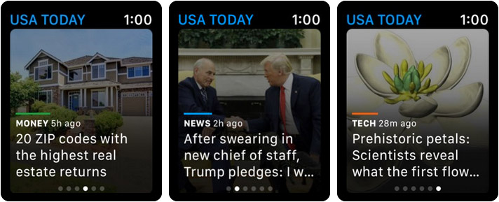 USA TODAY Apple Watch News App Screenshot