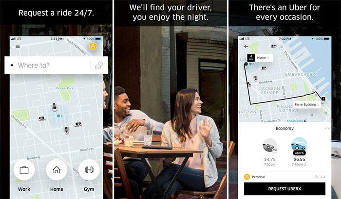 Uber iPhone and iPad App Screenshot