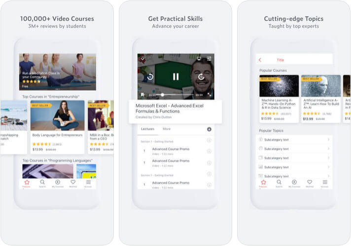 Udemy Online Courses & Classes iPhone and iPad App Screenshot