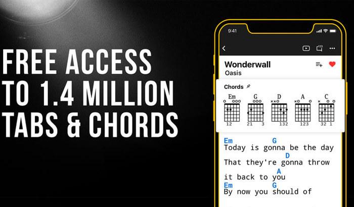 Ultimate Guitar iPhone and iPad App Screenshot