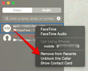 Unblock Caller in FaceTime App on Mac