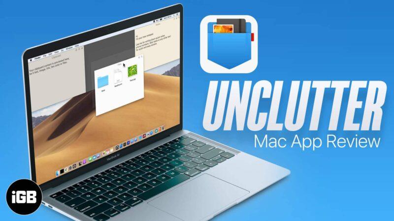 Unclutter Mac app to organize your desktop