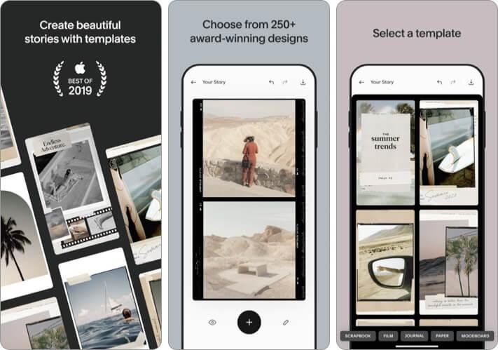 Unfold Combine photos iPhone and iPad App Screenshot