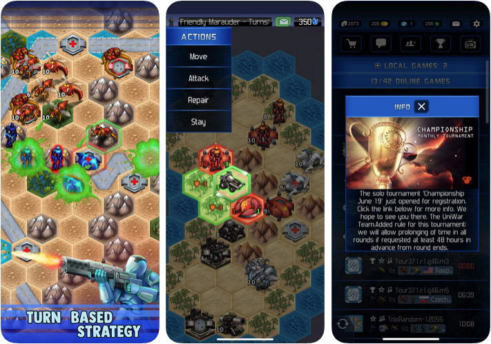 UniWar iPhone and iPad Turn Based Strategy Game Screenshot