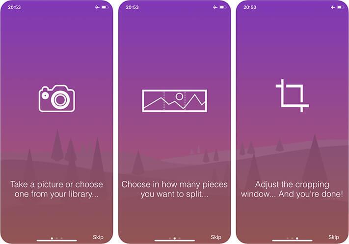 Unsquared For Instagram iPhone Panorama App Screenshot