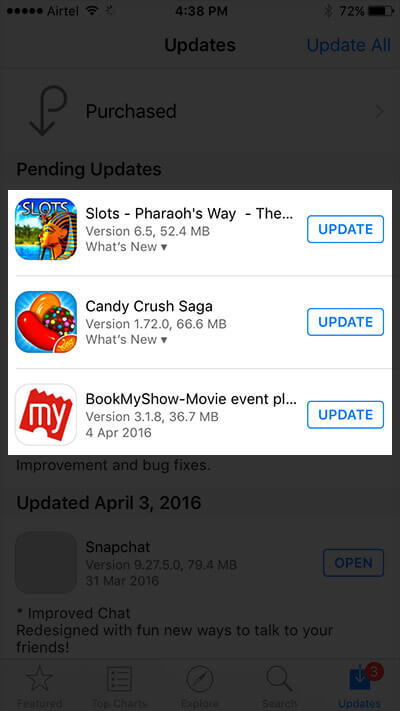 Update iPhone and iPad Apps