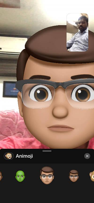 Use Animoji and Memoji in FaceTime Call on iPhone X