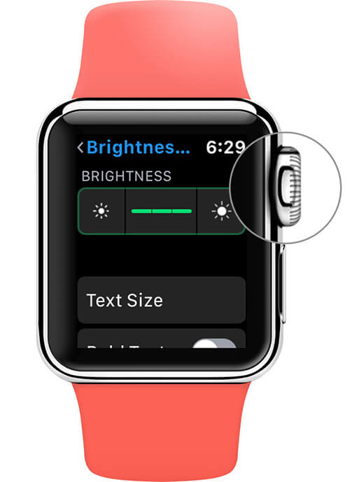 Use Digital Crown to Adjust Brightness on Apple Watch