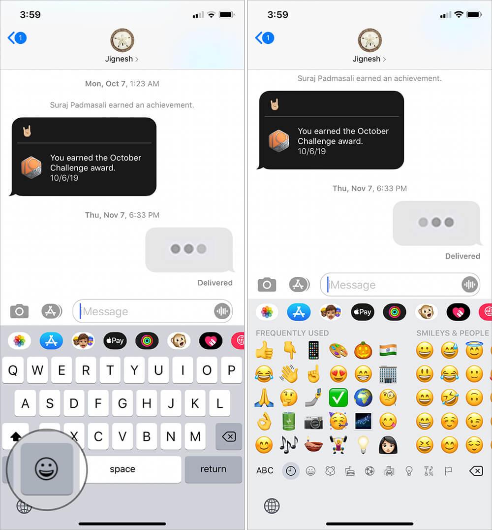 Use Emoji on iPhone or iPad