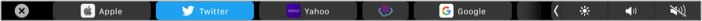 Use Mac Touch Bar while using Safari