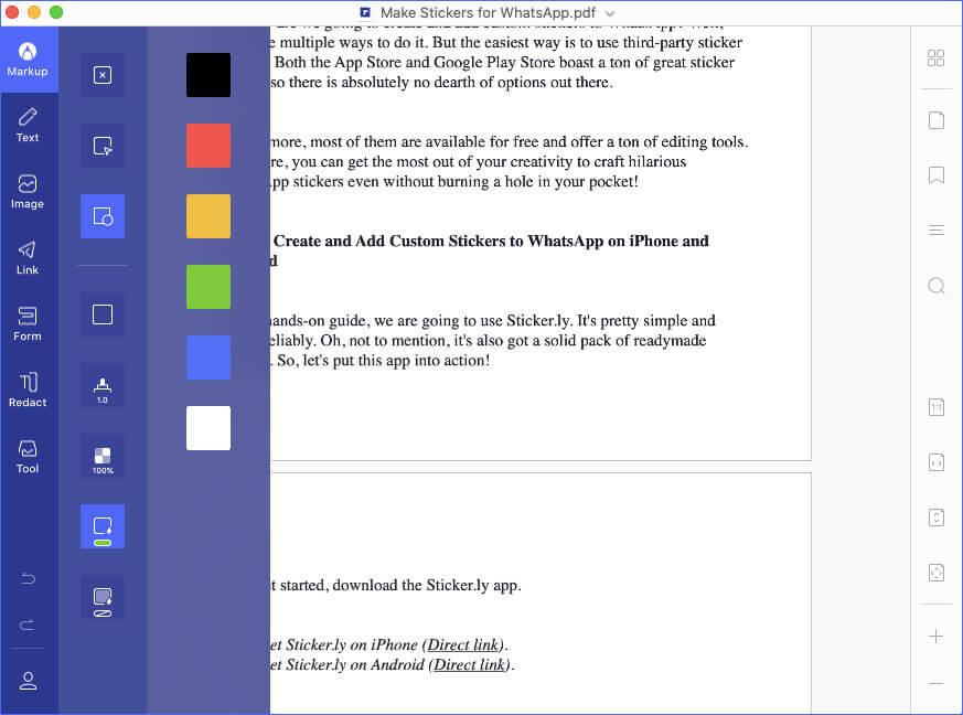Use Markup in PDF using PDFelement 7 on Mac