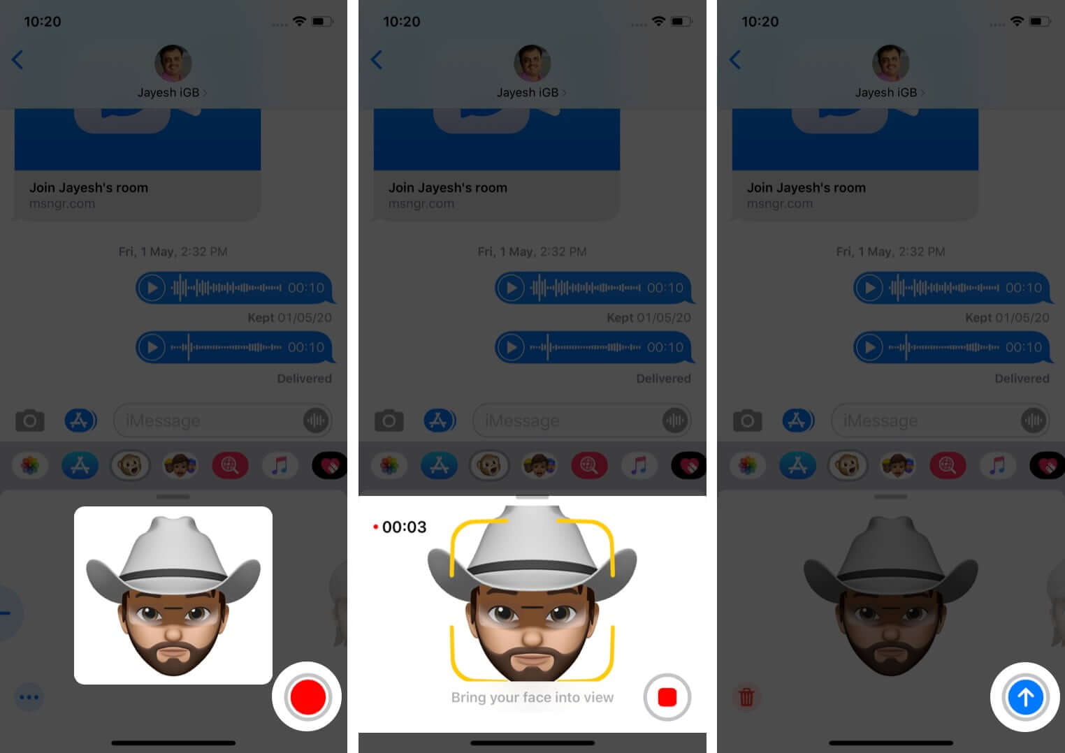 Use Memoji in Messages on iPhone