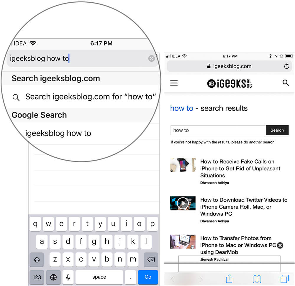 Use Quick Website Search in Safari on iPhone and iPad