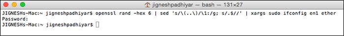 Use Random MAC Address in Mac OS X