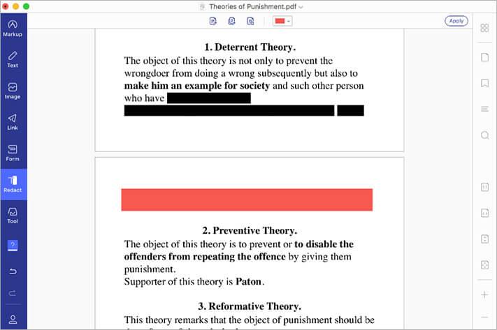 Use Redaction Tool in PDF File using PDFelement 7 on Mac