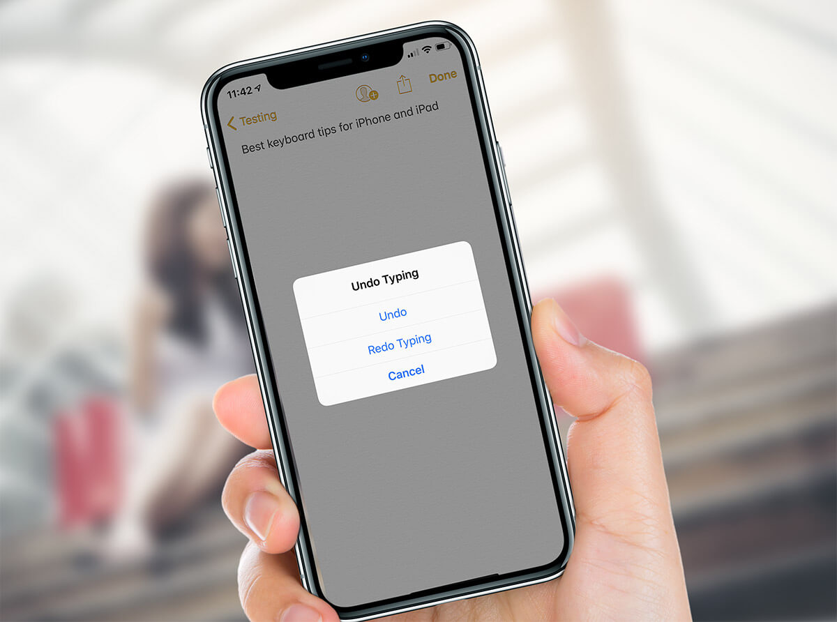 Use Shake to Undo or Redo on iPhone and iPad
