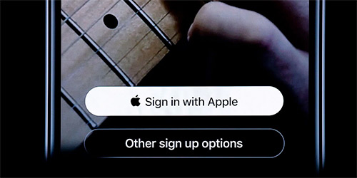 Use Sign In With Apple