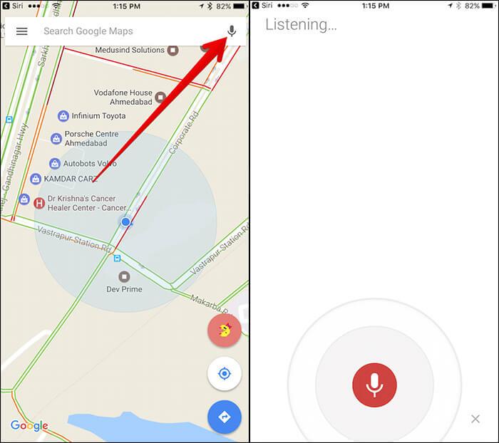 Use Siri with Google Maps on iPhone
