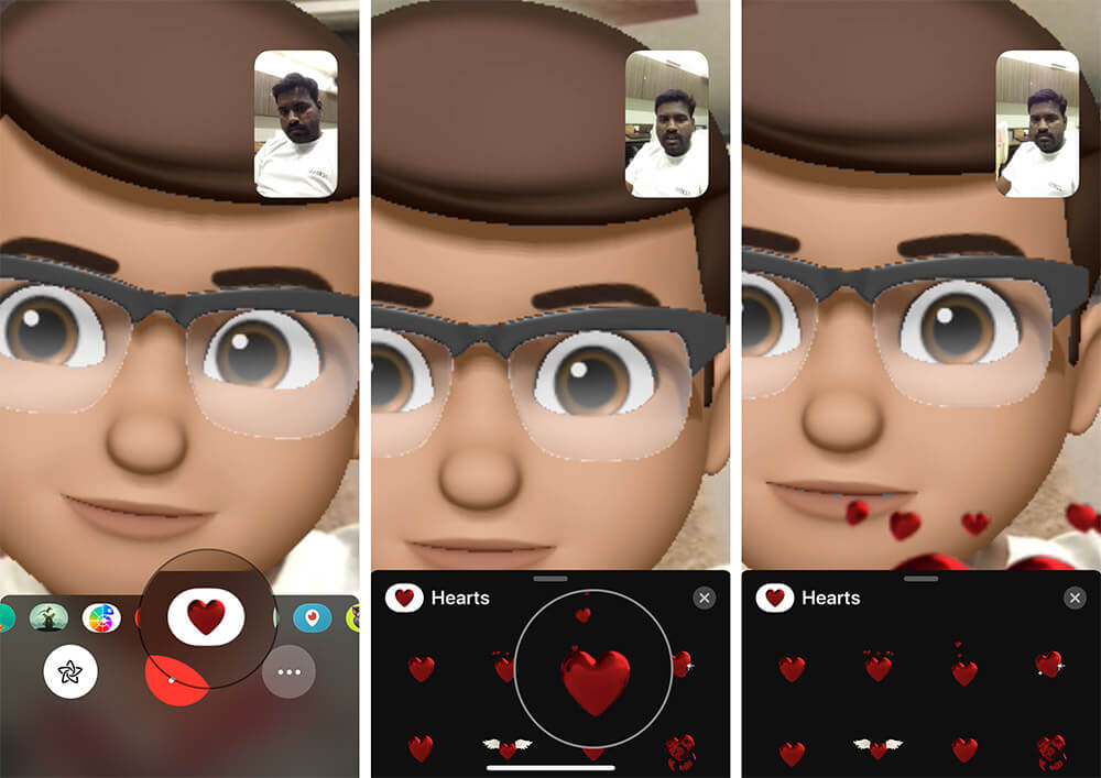 Use Stickers in Memoji in FaceTime Call on iPhone X