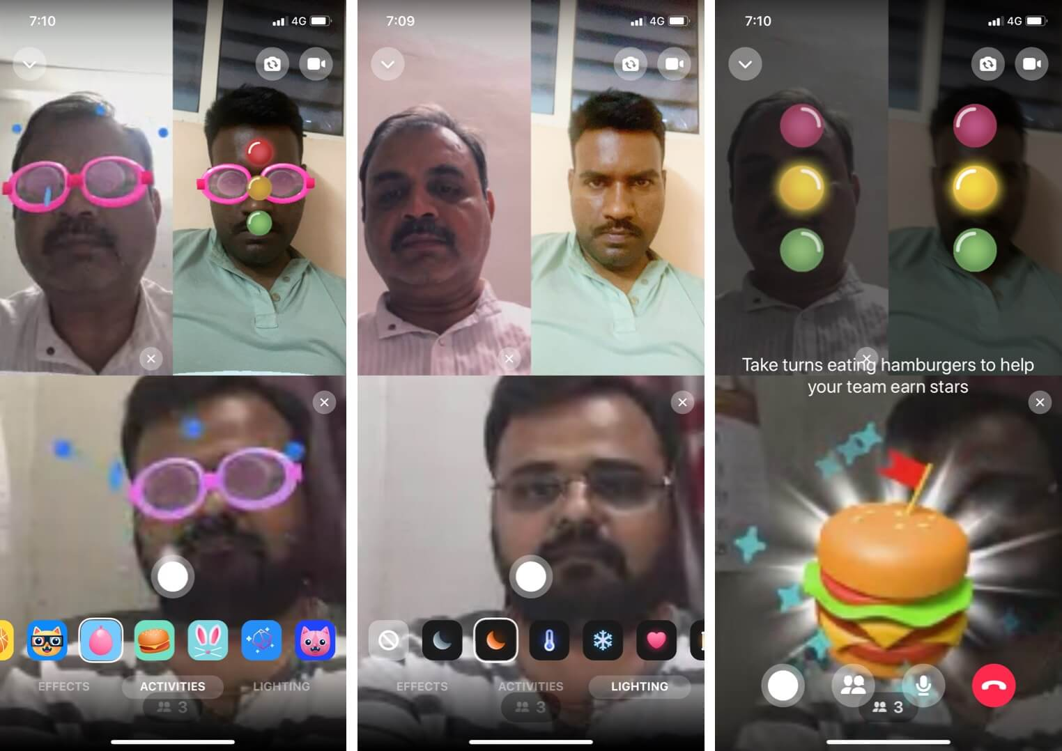 Use Various Effects During Video Call in Facebook Messenger Room on iPhone